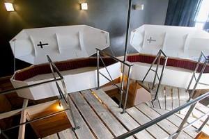 Habitación ataúd. Fuente: http://www.propeller-island.de/