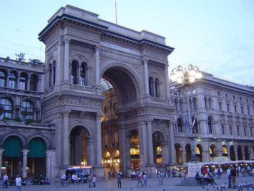 Galerías Vittorio Emanuele II, Milán, Italia