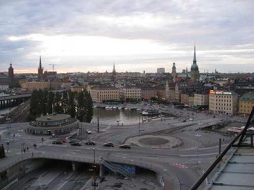 Vistas desde el ascensor de Katarina, Estocolmo