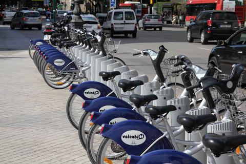 Bicletas urbanas en Valencia