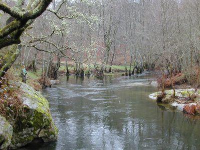 Río Arenteiro en invierno