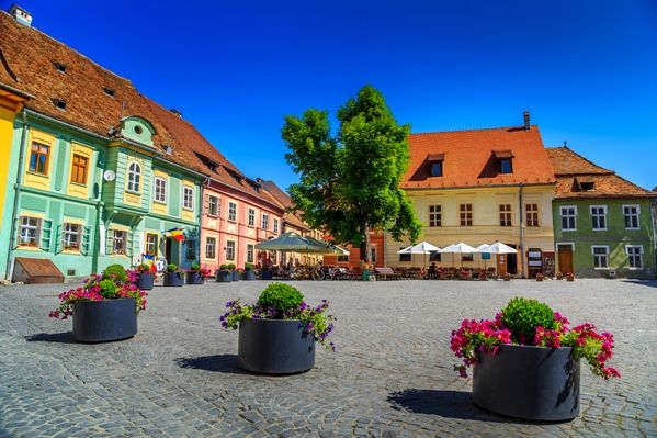 Plaza en Sighisoara