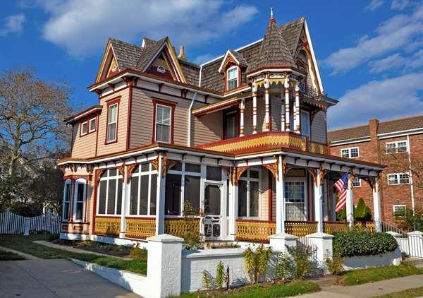 Casa de estilo victoriano en Nueva Jersey