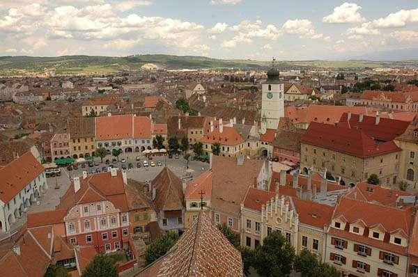 Vistas de Sibiu en Rumania