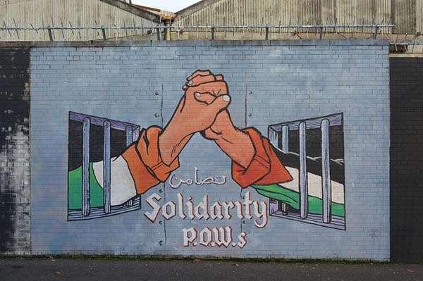 Muro pintado en Belfast