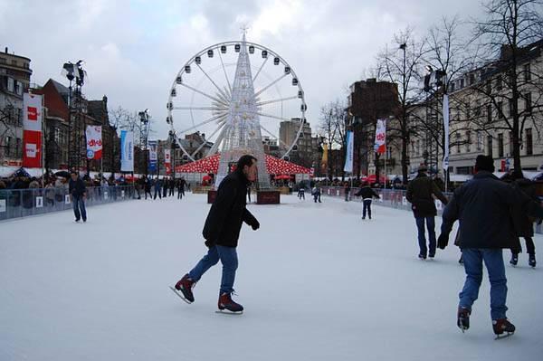 Pista de hielo en Bruselas