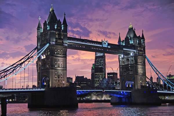 Torre de Londres, anocheciendo