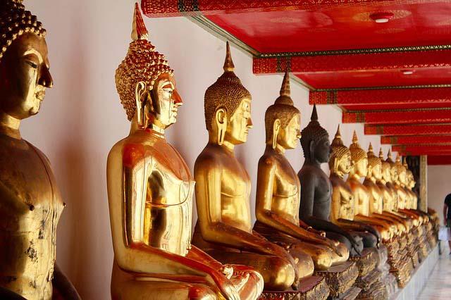 Budas de oro en Bangkok