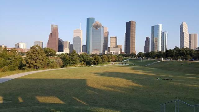 Houston desde el parque