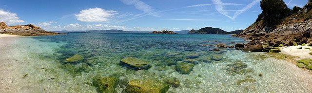 Playa en Islas Cies