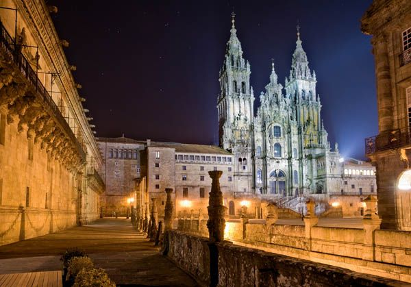 Catedral de Santiago de Compostela de noche