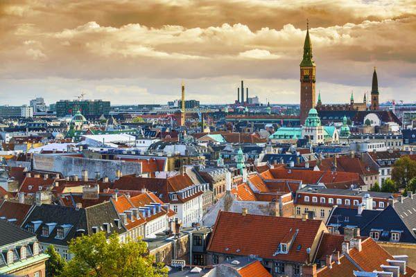 Vista aerea de Copenhague